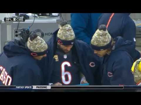 Jay Cutler Impersonates Aaron Rodgers & Throws a Tablet | Broncos vs. Bears | NFL