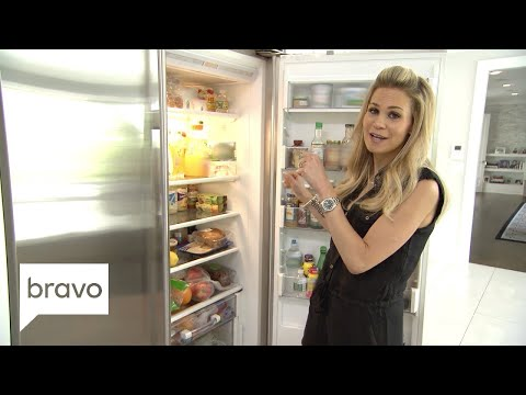 RHONJ: Peek Inside Jackie Goldschneider's 'Hungry Family' Refrigerator (Season 9, Episode 1) | Bravo