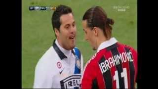 Julio Cesar prende in giro Ibrahimovic prima di calciare il rigore. (Ibra fa goal)