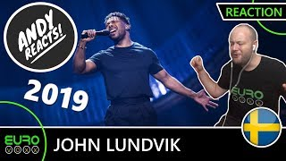 SWEDEN EUROVISION 2019 REACTION: John Lundvik - 'Too Late For Love' (Melfest winner) | ANDY REACTS!