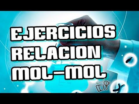 Estequiometria - relacion mol mol ( Ejercicios) | Quimica