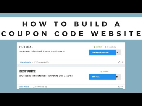 How to Build a Coupon Website | Make Coupon Website for Free | Create a Coupon Site [2021]