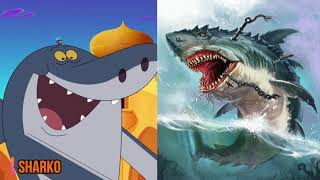 Zig And Sharko Characters As MONSTERS