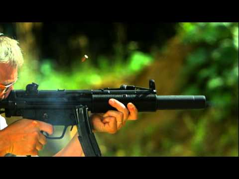 Heckler & Koch MP5 SD Slowmotion HK MP5 SD in Zeitlupe H&K