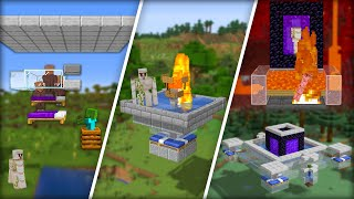 Testing Iron Farms in Minecraft - Which One You Should Build?