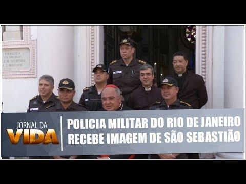 Policia Militar do Rio de Janeiro recebe imagem de São Sebastião - Jornal da Vida - 16/01/19