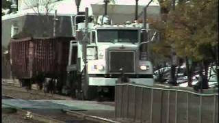 BNSF Tie Truck/Train East Hinsdale IL