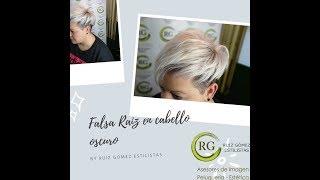 #platino #falsaraiz #balayage Cabello blanco con falsa raiz-White hair with false roots