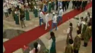 北京虐殺オリンピックの悪魔の聖火リレーが6月21日、チベット国の首都で...