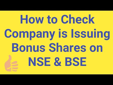 How to Check Company is Issuing Bonus Shares on NSE & BSE Stock Exchanges