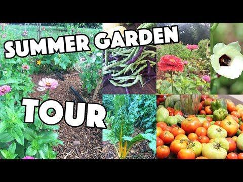 SUMMER GARDEN TOUR 2017 | A BEAUTIFUL NEST TV