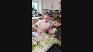 apple cake recipe with julien picamil and his son nolan