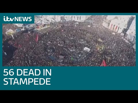 At least 56 people killed in stampede at funeral procession for Iranian general | ITV News