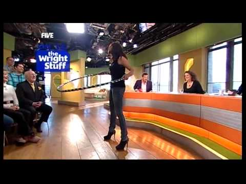 Kirsty does hulahooping in high heels! 05.03.10  TWStuff