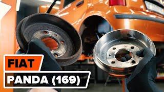 Hvordan og når bytte Bremsetrommel foran og bak FIAT PANDA (169): videoopplæring