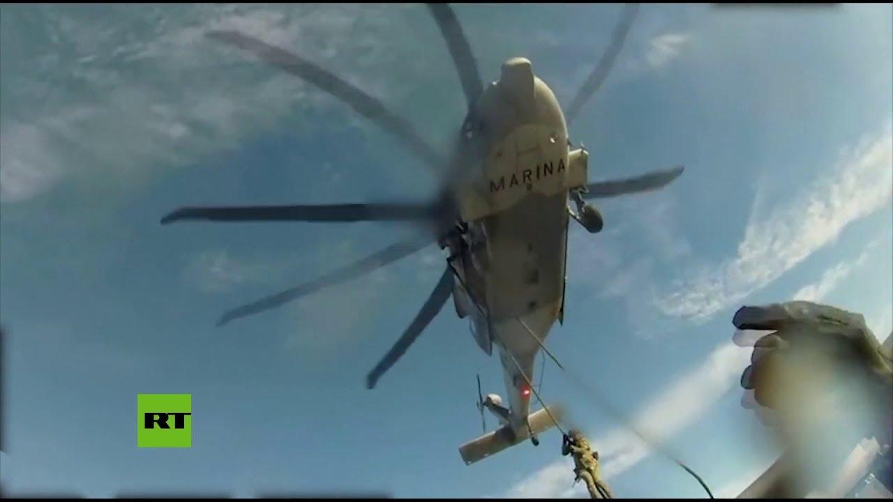 Marina mexicana asalta un barco y decomisa 630 kilos de cocaína
