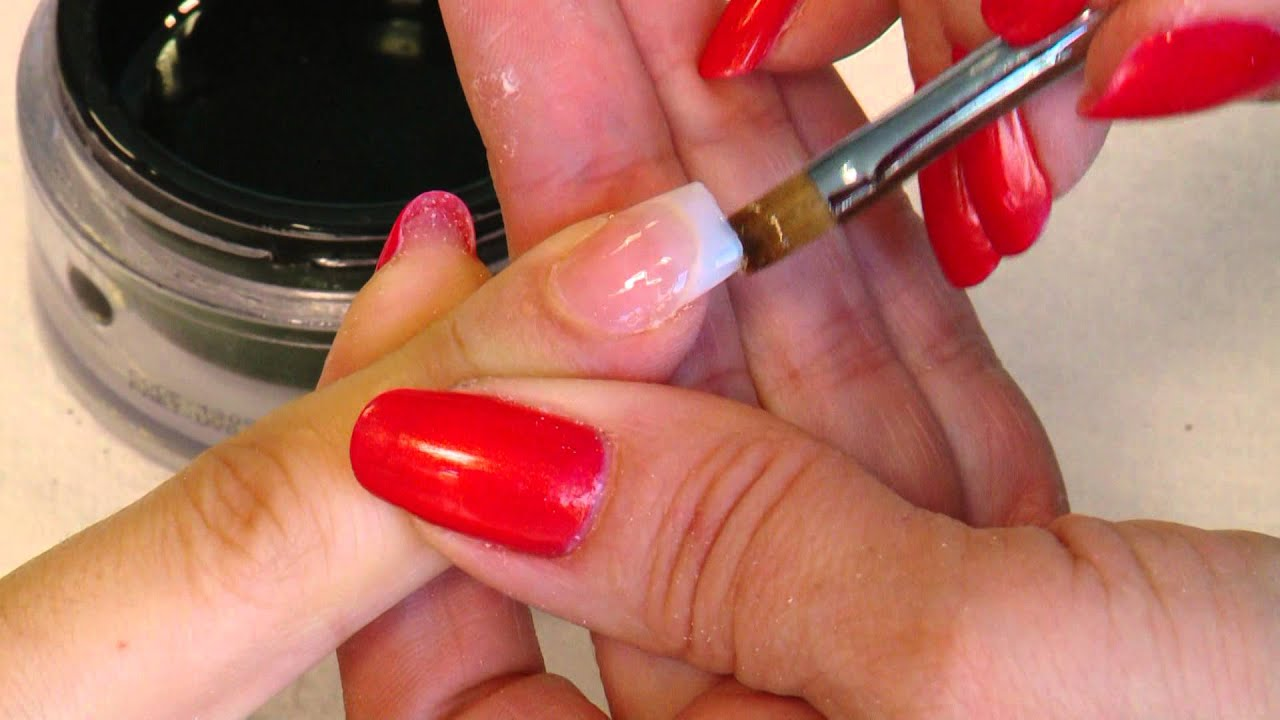 FLASH UV Gel Nail Extensions using Nail Tips - YouTube