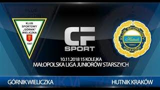 Skrót meczu: Górnik Wieliczka - Hutnik Kraków 10.11.2018