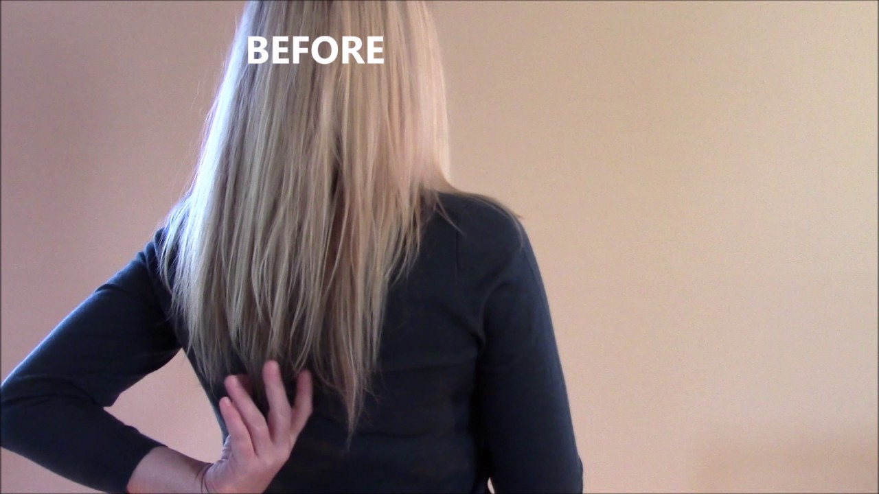 Halo Hair Extensions Before And After Youtube