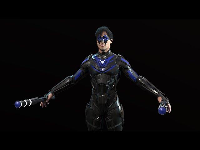 Делаем 3д модель персонажа покраска финал и наверное ригг 7 этап