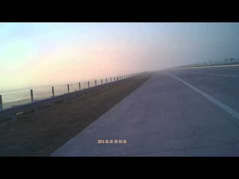 Bike riding at Yamuna Express Way Delhi to Agar Highway parallel to National Highway NH-2 India