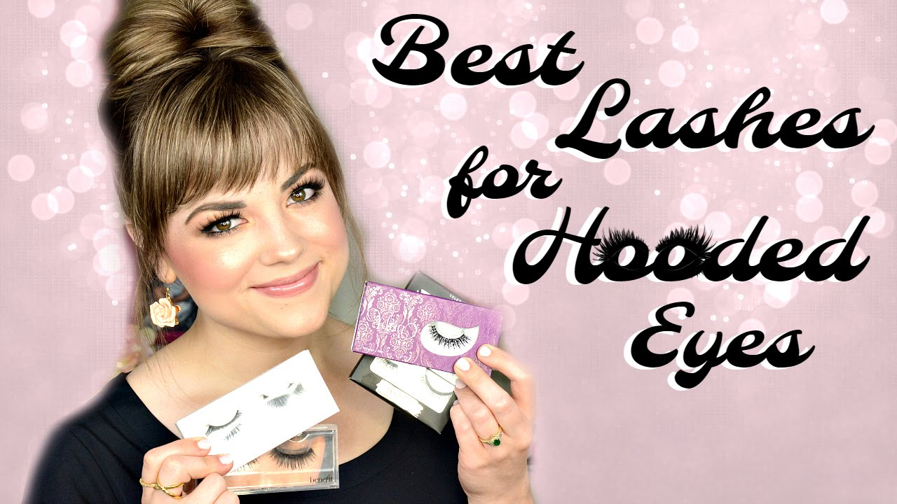Best False Lashes for HOODED EYES (Try-On)