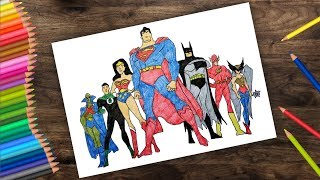 Justice league drawing  - justice league cartoon