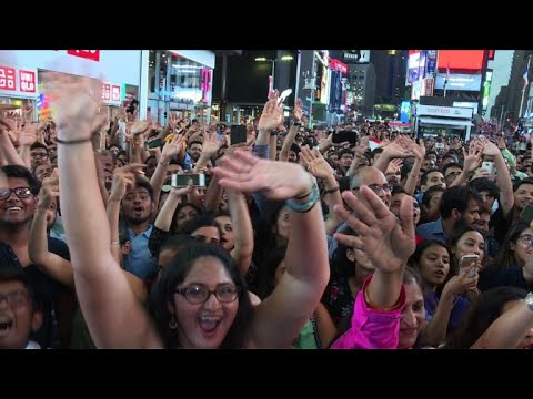 Bollywood frenzy in Times Square ahead of Indian film awards