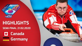 HIGHLIGHTS: Canada v Germany - Men's semi-final - World Junior Curling Championships 2020
