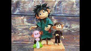 как сделать обезьянку из мастики