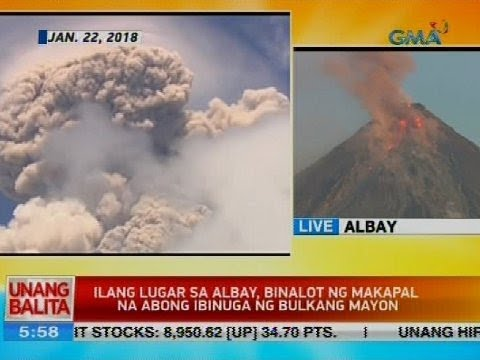 Ilang lugar sa Albay, binalot ng makapal na abong ibinuga ng Bulkang Mayon