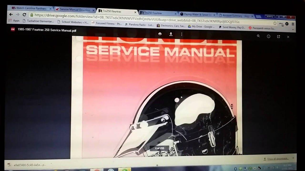 honda atv service manual