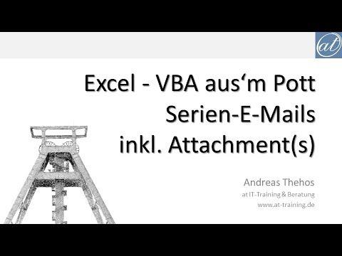 Excel 348 Serienmail Mit Mehreren Anhängen über Outlook Versenden Vba