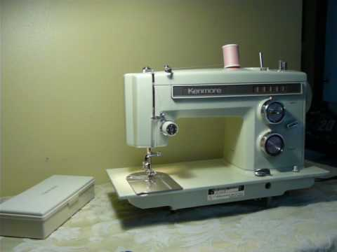 NIFTYTHRIFTYGIRL Vintage Kenmore Model 40 Sewing Machine With Stunning Kenmore 158 Sewing Machine