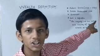 WEALTH DEFINITION  OR ADAM'S SMITH  DEFINITION