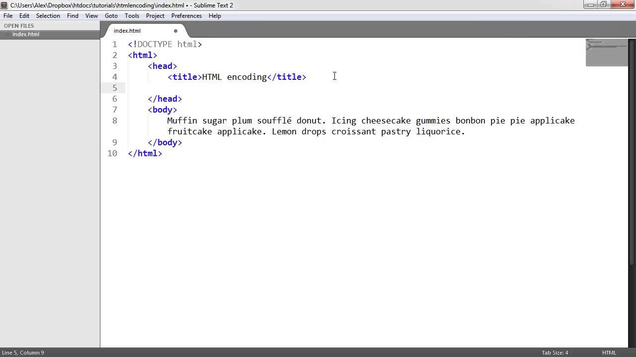 Html Character Encoding Youtube