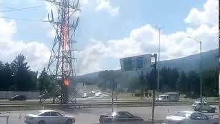 Жанып жатқан электр бағана на бул. ''Болгария''