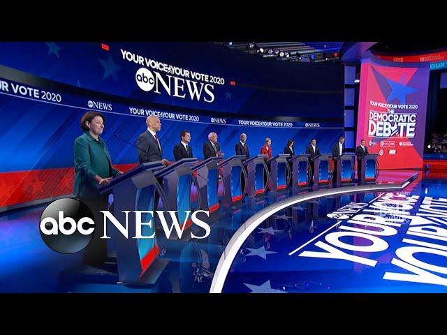 Democratic candidates debate: Opening statements l ABC News