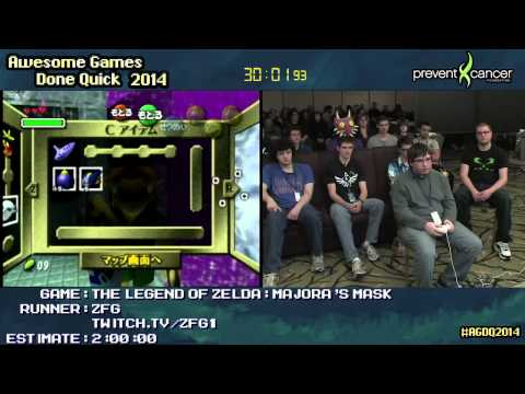 Legend of Zelda: Majora's Mask :: SPEED RUN (1:42:46) by ZFG #AGDQ 2014 [N64]