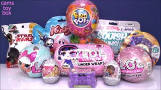 LOL Under Wraps Glam Glitter Pikmi POPS Surprise 1 Dolls Disney Eggs Blind Bags TOYS Unboxing