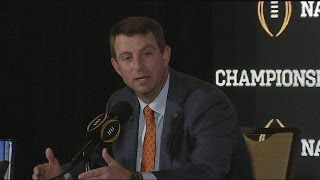 "Dabo Swinney, ""Not real excited to play Alabama"""
