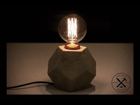 Pentagon concrete lamp