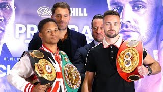 Prograis vs Taylor WAR OF WORDS during staredown | Matchroom Boxing