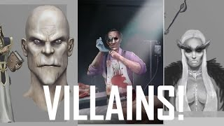Critique Hour! Villain Design Challenge Submissions! How to Draw a Villain!