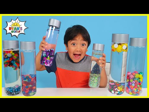 How to make PLAY sensory water bottles for Kids DIY!