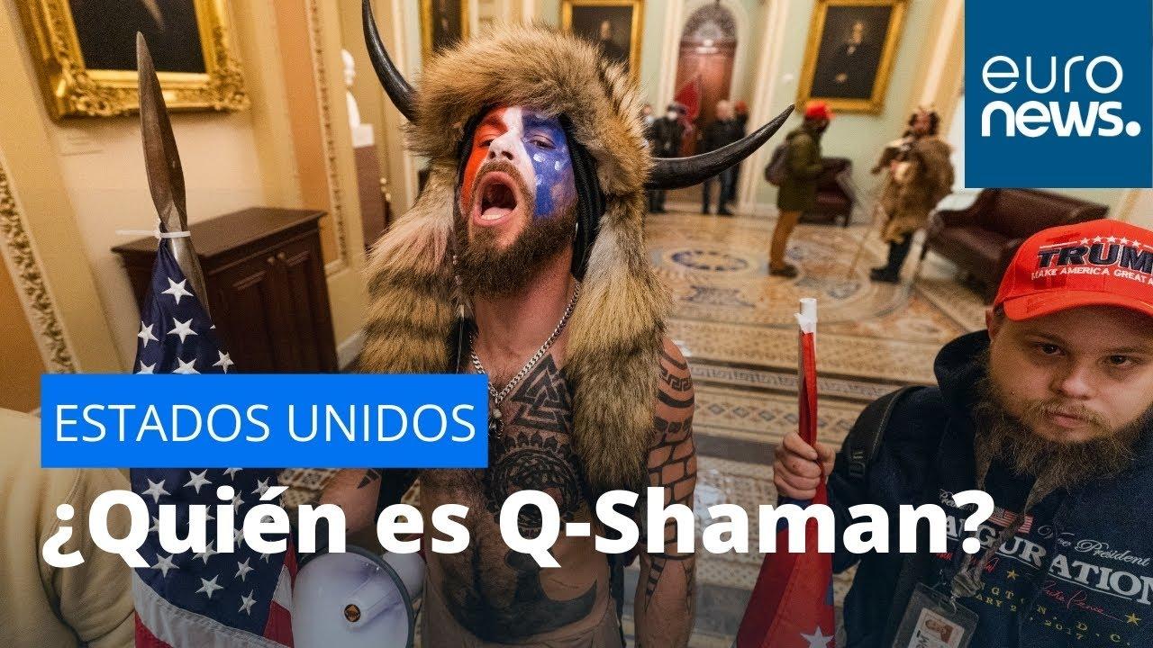 Download ¿Quien es Q-Shaman, el joven con cuernos que entró en el Capitolio?