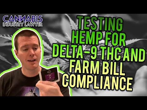 Testing Hemp for Delta-9 THC and Farm Bill Compliance