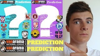 NATIONAL LEAGUE SOUTH/ NATIONAL LEAGUE NORTH PREDICTIONS 2018/19!