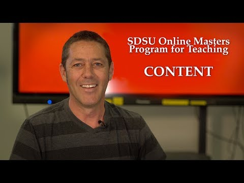 SDSU Online Masters Program for Teaching (2 of 2) - Content
