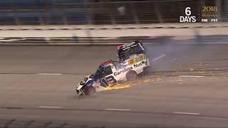 NASCAR Camping World Truck Series 2018. Texas Motor Speedway. Myatt Snider & Jennifer Jo Cobb Crash